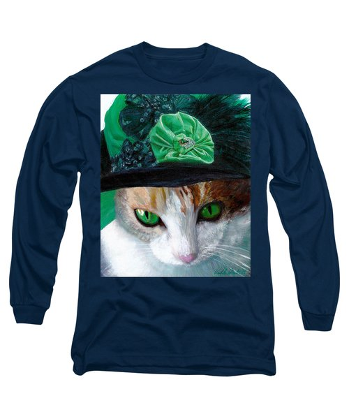 Lady Little Girl Cats In Hats Long Sleeve T-Shirt