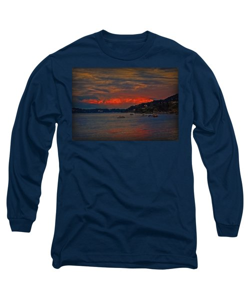 Long Sleeve T-Shirt featuring the photograph Lago Maggiore by Hanny Heim