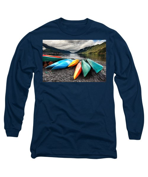 Lake Crescent Kayaks Long Sleeve T-Shirt