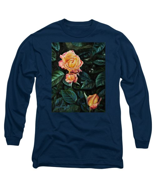 Long Sleeve T-Shirt featuring the painting Lake J Rose by Craig T Burgwardt