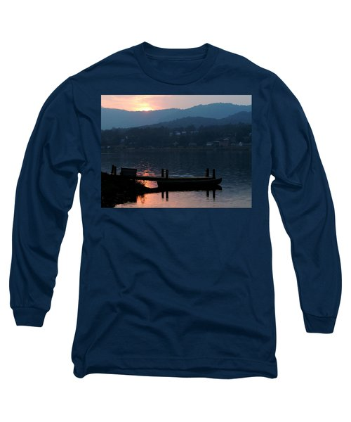 Long Sleeve T-Shirt featuring the photograph Lake J Sunset by Craig T Burgwardt
