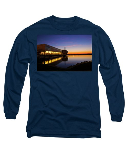 Lakefront Sunrise Long Sleeve T-Shirt by Jonah  Anderson