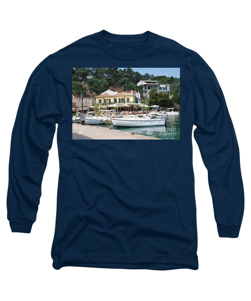 Lakka Harbour On Paxos Long Sleeve T-Shirt