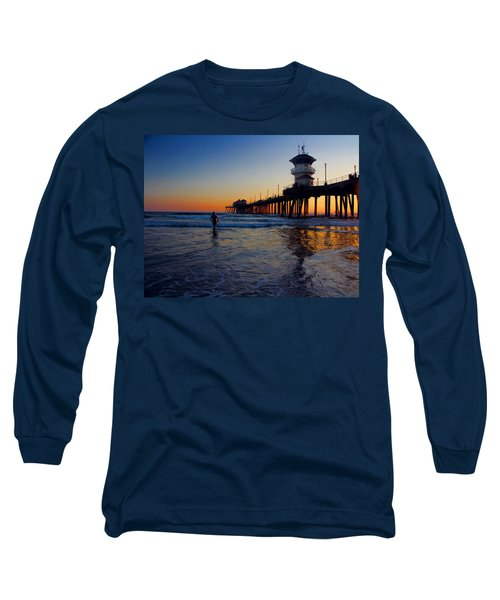 Long Sleeve T-Shirt featuring the photograph Last Wave by Tammy Espino