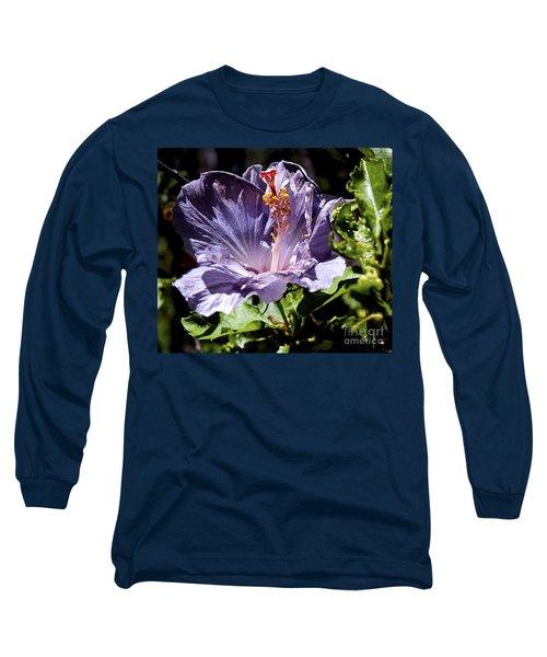 Lavender Hibiscus Long Sleeve T-Shirt