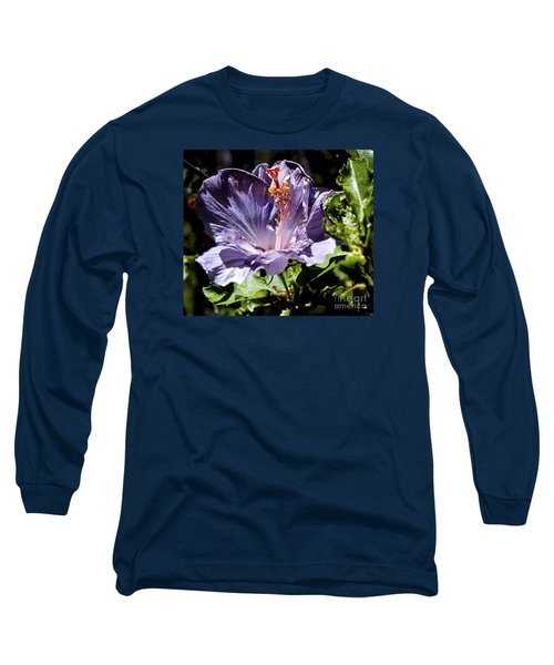 Lavender Hibiscus Long Sleeve T-Shirt