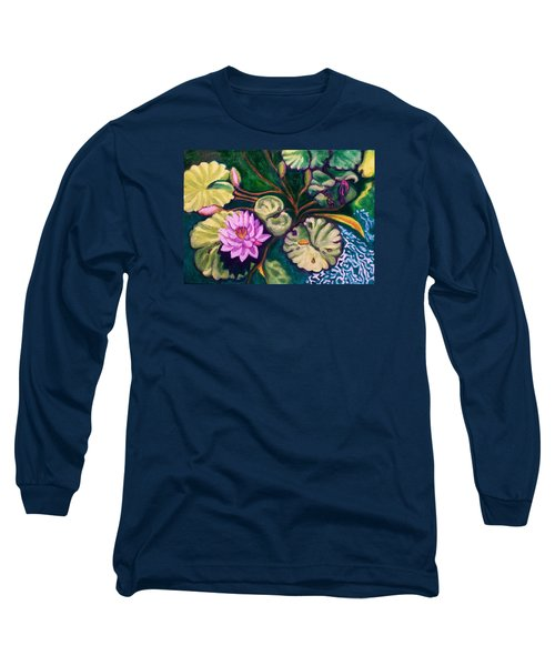 Lavender Lotus Flower Long Sleeve T-Shirt