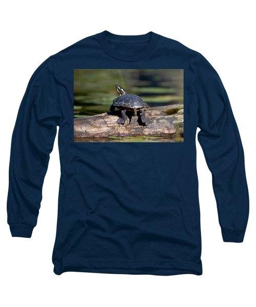 Lazy Day On A Log 6241 Long Sleeve T-Shirt