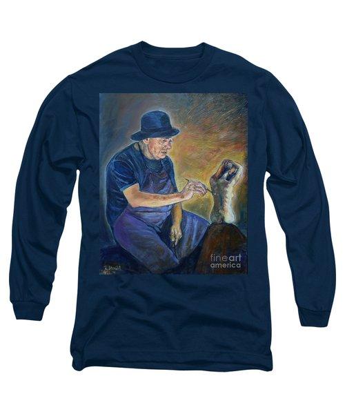 Figurative Painting Long Sleeve T-Shirt
