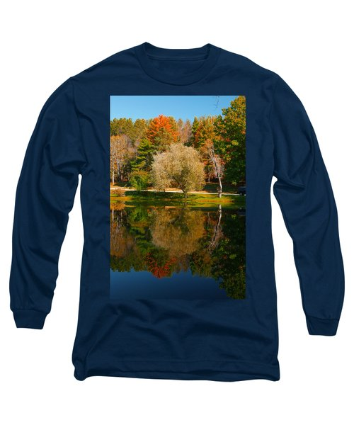 Letchworth Autumn Reflections Long Sleeve T-Shirt by Richard Engelbrecht