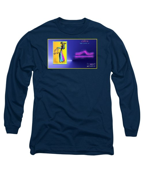 Long Sleeve T-Shirt featuring the digital art Libra by The Art of Alice Terrill