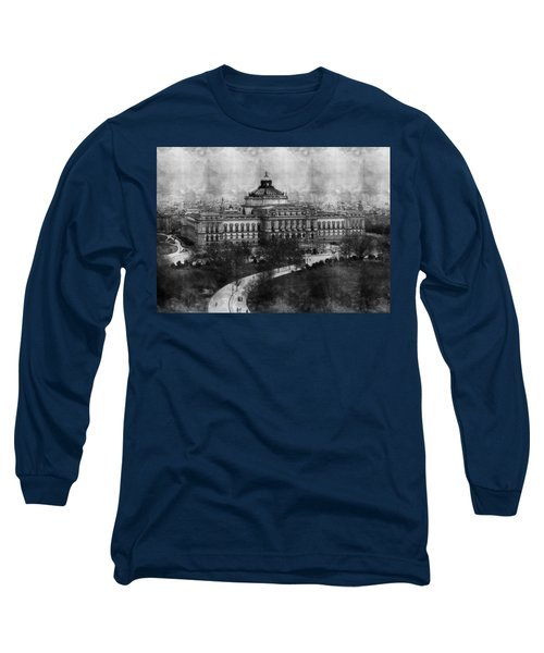 Library Of Congress Washington Dc 1902 Sketch Long Sleeve T-Shirt