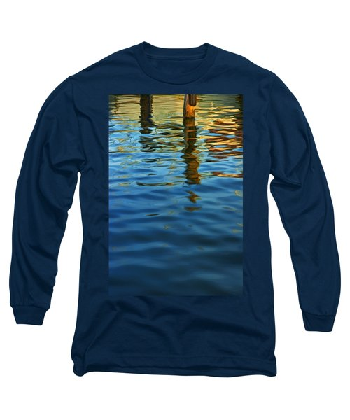 Light Reflections On The Water By A Dock At Aransas Pass Long Sleeve T-Shirt