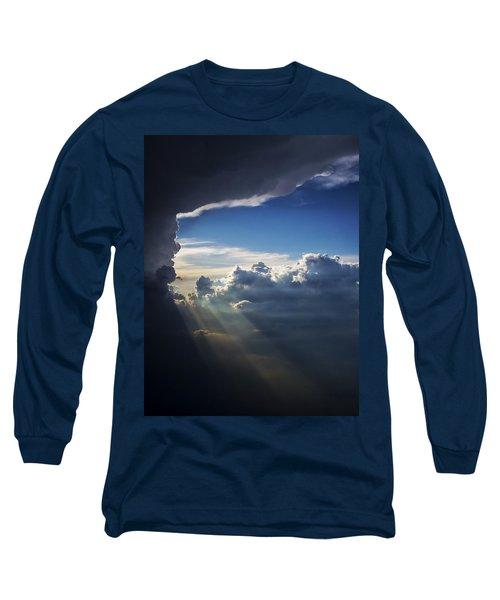 Light Shafts From Thunderstorm II Long Sleeve T-Shirt