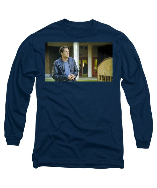 Long Sleeve T-Shirt featuring the painting Like The Night When My Girl Went Away by Luis Ludzska