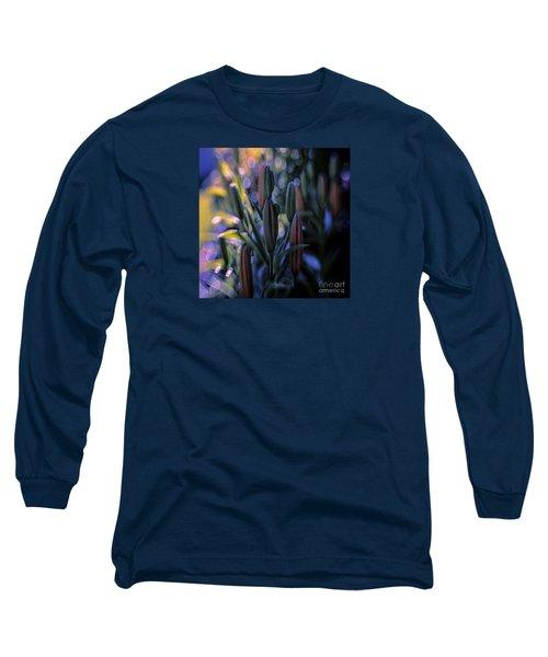 Lily Light Long Sleeve T-Shirt by Jean OKeeffe Macro Abundance Art