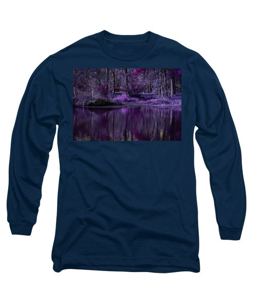 Living In A Purple Dream Long Sleeve T-Shirt by Linda Unger