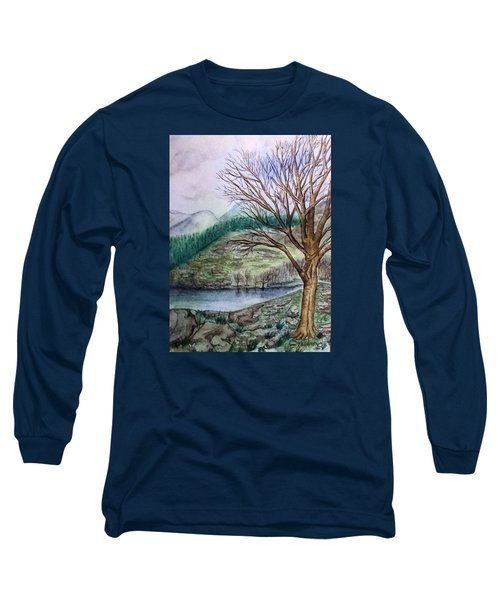 Loch Ard Stirling Overlooking Loch A'ghleannain Long Sleeve T-Shirt