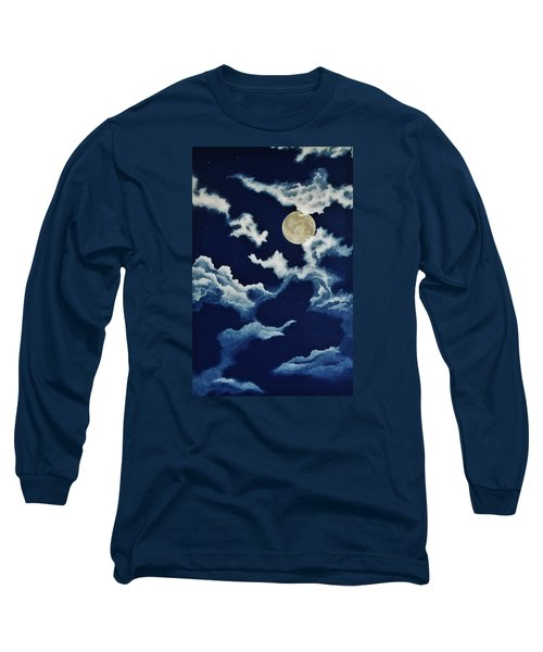 Look At The Moon Long Sleeve T-Shirt by Katherine Young-Beck