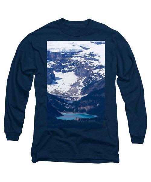 Looking Down At Lake Louise #2 Long Sleeve T-Shirt