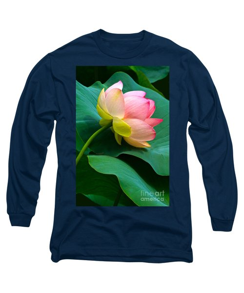 Lotus Blossom And Leaves Long Sleeve T-Shirt