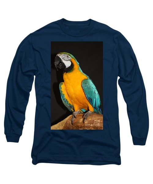 Macaw Hanging Out Long Sleeve T-Shirt by John Telfer