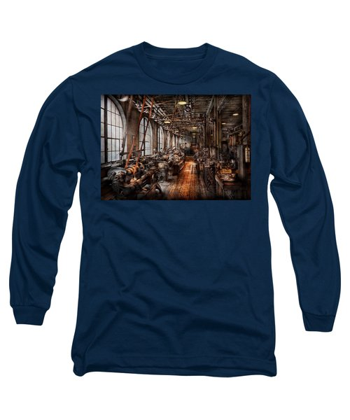 Machinist - A Fully Functioning Machine Shop  Long Sleeve T-Shirt by Mike Savad