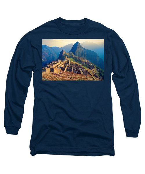 Machu Picchu Late Afternoon Sunset Long Sleeve T-Shirt