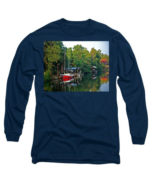 Magnolia Red Boat Long Sleeve T-Shirt
