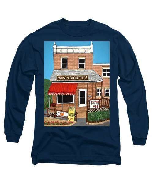 Maison Baguettes Long Sleeve T-Shirt by Stephanie Moore