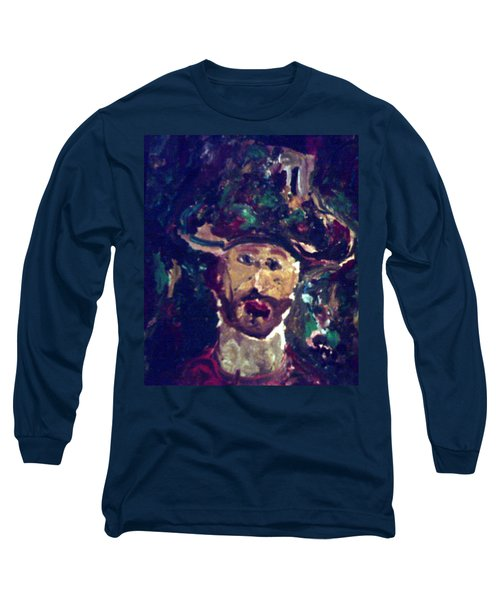 Man With A Hat Long Sleeve T-Shirt