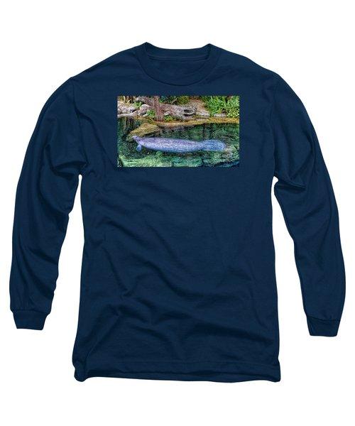 Manatee Long Sleeve T-Shirt by Olga Hamilton