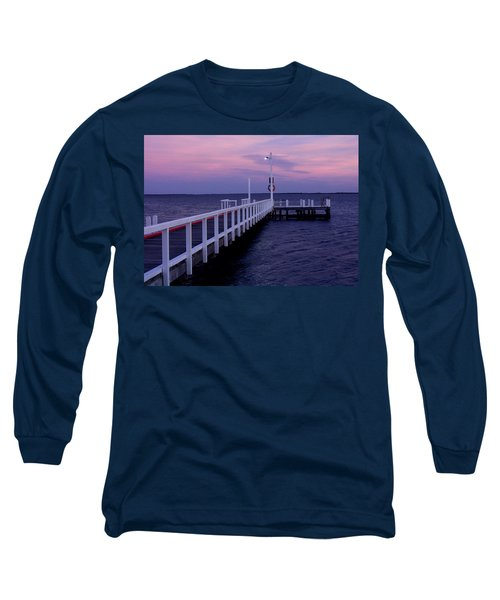 Manns Beach Jetty Long Sleeve T-Shirt by Evelyn Tambour
