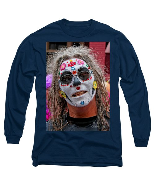 Long Sleeve T-Shirt featuring the photograph Mardi Gras Happy Face by Luana K Perez