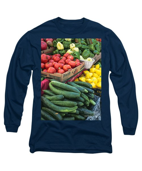 Long Sleeve T-Shirt featuring the photograph Market Freshness by Arlene Carmel