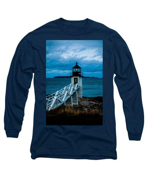 Marshall Point Light At Dusk 1 Long Sleeve T-Shirt