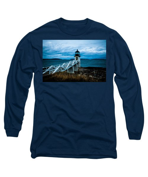 Marshall Point Light At Dusk 2 Long Sleeve T-Shirt