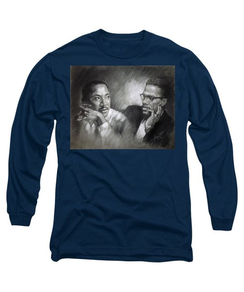 Martin Luther King Jr And Malcolm X Long Sleeve T-Shirt