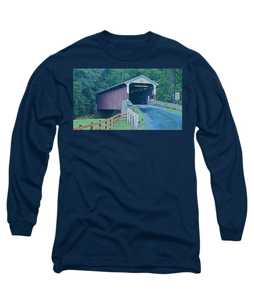 Mercer's Mill Covered Bridge Long Sleeve T-Shirt