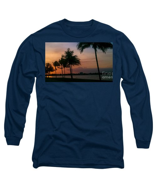 Miami Sunset Long Sleeve T-Shirt