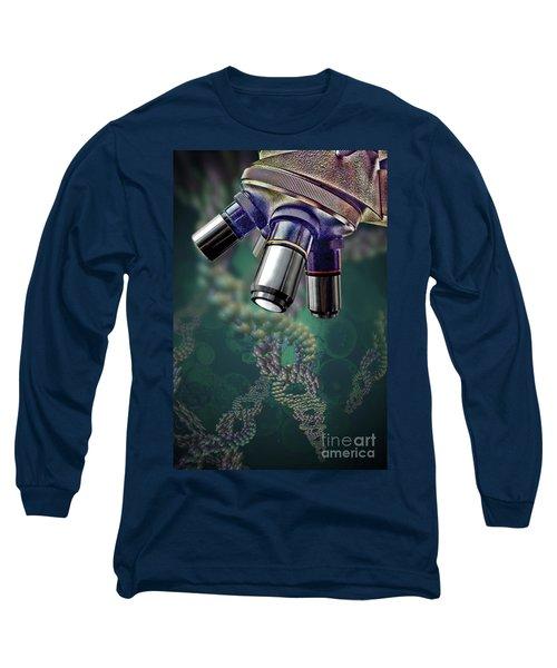 Microscope Dna Strands Long Sleeve T-Shirt