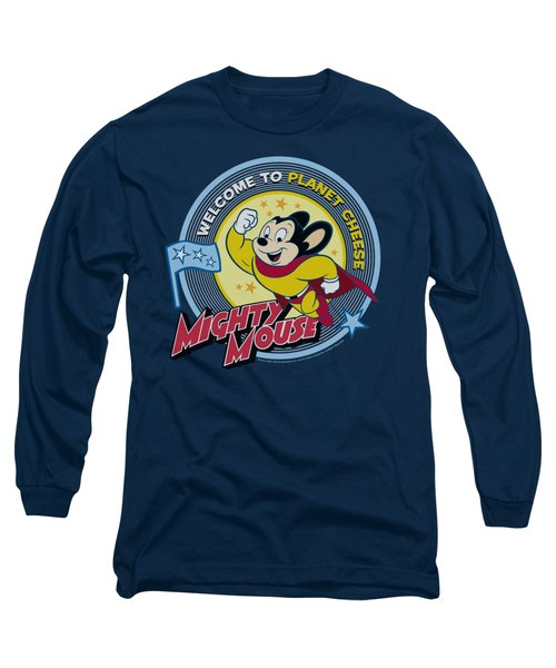 Mighty Mouse - Planet Cheese Long Sleeve T-Shirt by Brand A
