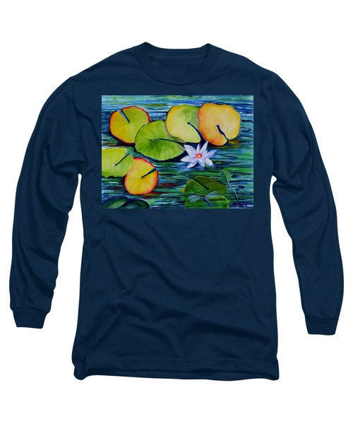 Whimsical Waterlily Long Sleeve T-Shirt