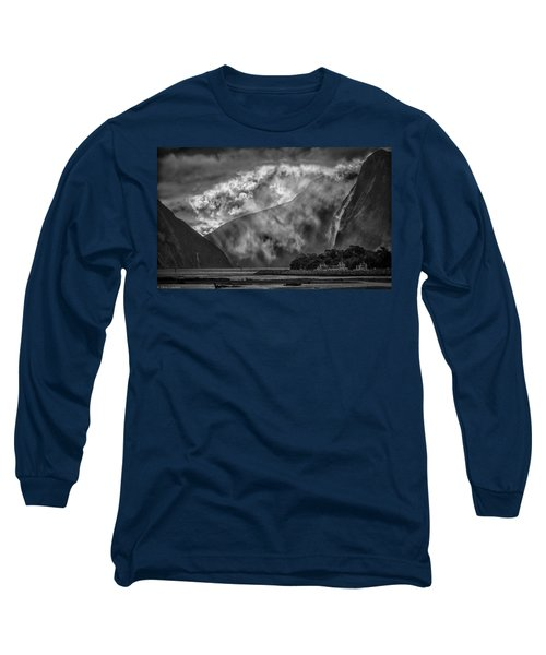 Long Sleeve T-Shirt featuring the photograph Misty Milford by Chris Cousins