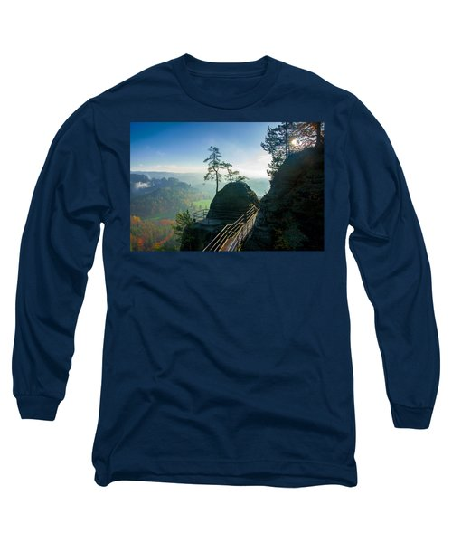 Misty Sunrise On Neurathen Castle Long Sleeve T-Shirt