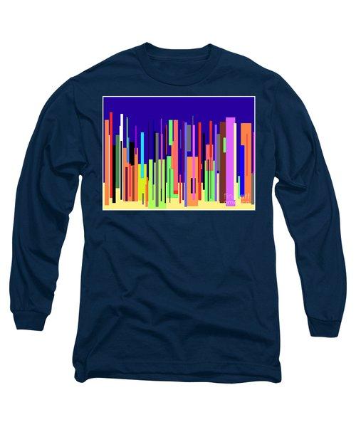 Modern Cityscape Long Sleeve T-Shirt