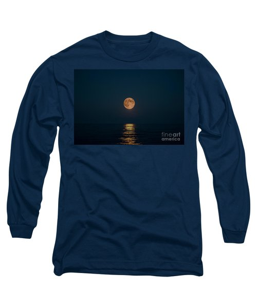 Moon Over Lake Of Shining Waters Long Sleeve T-Shirt