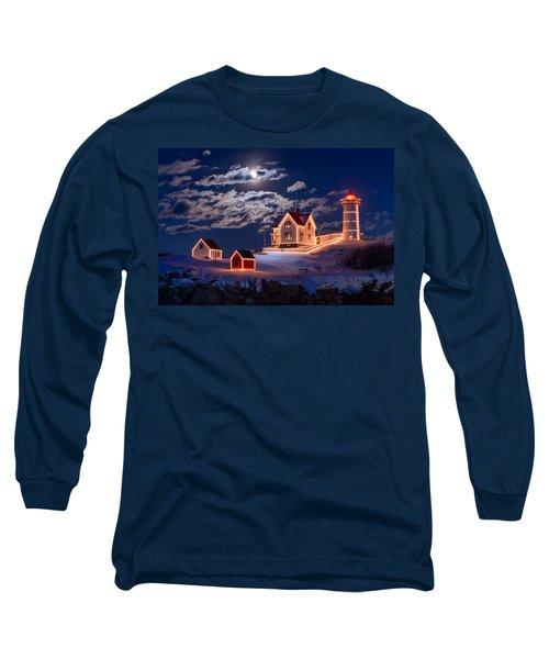 Moon Over Nubble Long Sleeve T-Shirt