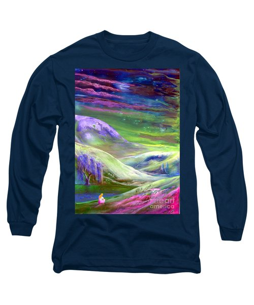 Long Sleeve T-Shirt featuring the painting Moon Shadow by Jane Small