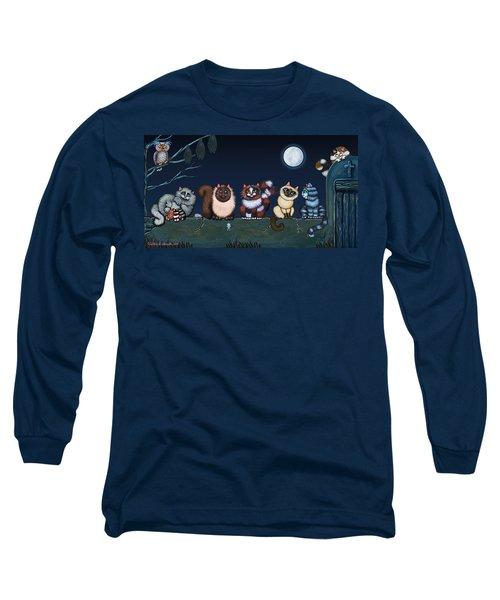 Moonlight On The Wall Long Sleeve T-Shirt